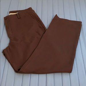 Chocolate brown linen pants